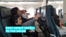 Airline admits where its cameras are
