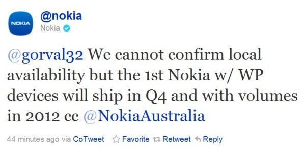 Nokia confirma que su primer Windows Phone llegará antes de fin de año