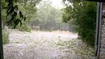 Powerful Hailstorm Hits Siberia's Novosibirsk