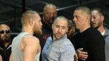 Conor McGregor, Nate Diaz trade barbs in expletive-filled first press conference