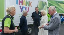 Charles and Camilla thank distribution centre staff for work during outbreak