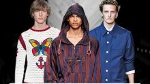 Milan Fashion Week Offers Up Some Wacky Menswear: Mandals, Gypsy Gear, Crocheted Crop Tops & More