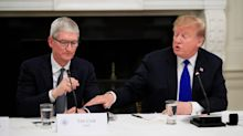 Trump tweets about dinner with Apple CEO Tim Cook