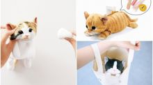 【新片速報】觸感似棉花糖可搣臉 日本喵星人化妝袋超可愛