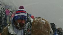Lake-Effect Snow Creates Whiteout Conditions During Buffalo Bills Game