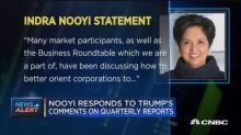 PepsiCo's Indra Nooyi responds to Trump's comments on qua...