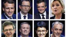 French presidential contenders clash on jobs, security