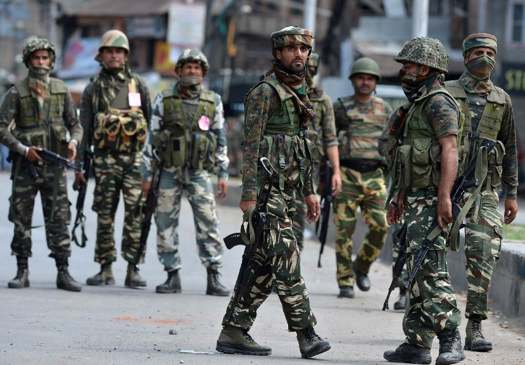 Kashmir has been under curfew since protests erupted over the death last month of a popular young rebel leader, Burhan Wani, in a gunfight with security forces (AFP Photo/Tauseef Mustafa)