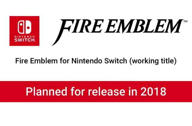 A new 'Fire Emblem' game is coming to Nintendo Switch in 2018