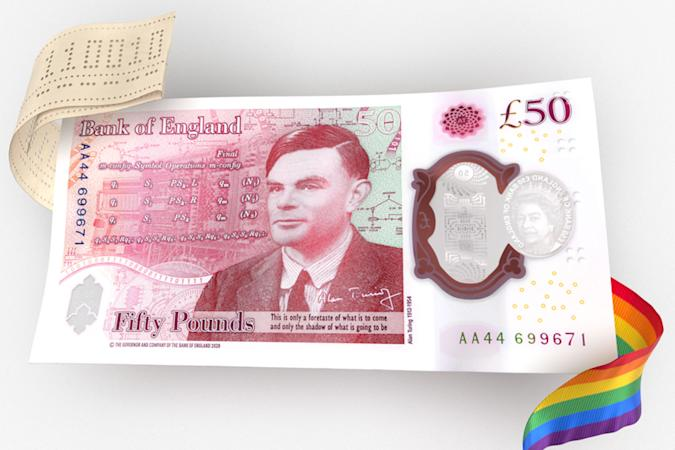 Bank of England reveal design of new Alan Turing £50 note