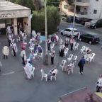Drone captures start of second Israel lockdown