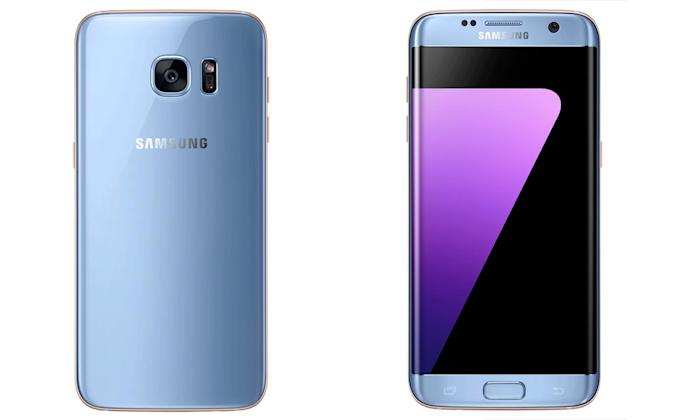 The Galaxy S7 Edge gets doomed Note 7's Coral Blue outfit