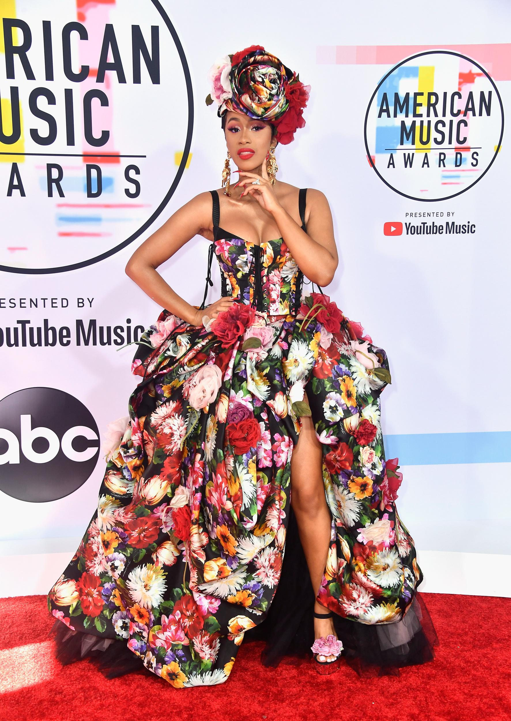 LOS ANGELES, CA - OCTOBER 09:  Cardi B attends the 2018 American Music Awards at Microsoft Theater on October 9, 2018 in Los Angeles, California.  (Photo by Frazer Harrison/Getty Images)
