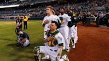 A's fans cheer Bruce Maxwell in first at-bat after kneeling for anthem