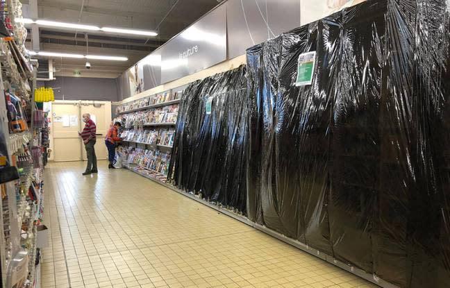 Confinement : Pour les ménages modestes et ruraux, la fermeture des rayons  non-essentiels des supermarchés «