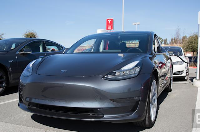 Tesla temporarily paused Model 3 production in February