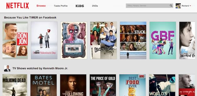 Netflix's website is suddenly sporting a fresh logo and brighter background