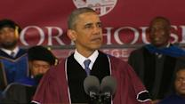 Obama urges Morehouse grads to be better men