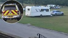 Bizarre scenes as campers force cricket match to be cancelled