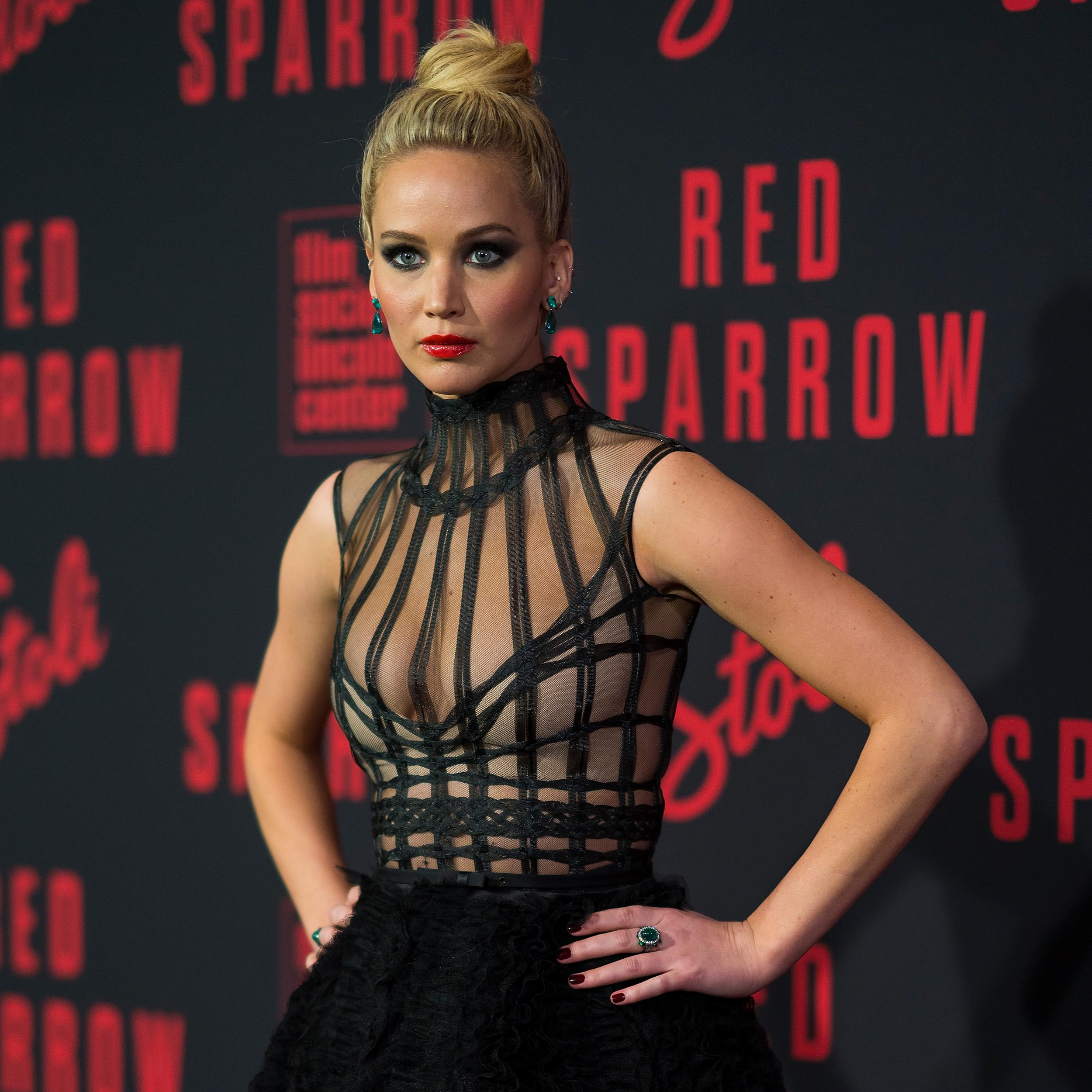 NEW YORK, NY - FEBRUARY 26:  Jennifer Lawrence attends the 'Red Sparrow' New York premiere at Alice Tully Hall at Lincoln Center on February 26, 2018 in New York City.  (Photo by Michael Stewart/FilmMagic)