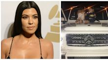 The Internet Is Furious That Kourtney Kardashian Posted a Photo of Her Kids Sitting On a Mercedes