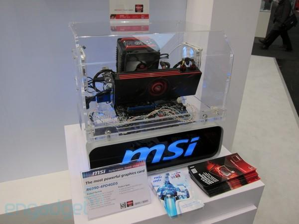 MSI's Radeon HD 6990-based graphics card looks the part (video)