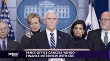 Pence Office Cancels YF Interview with CDC on coronavirus COVID-19