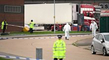 Police hold man on suspicion of murder after 39 bodies found in container