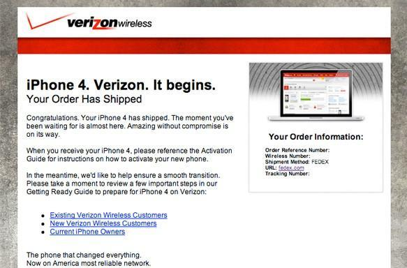 Verizon iPhone now shipping to select customers: 'it begins'