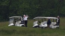 Trump enjoys second day of golf