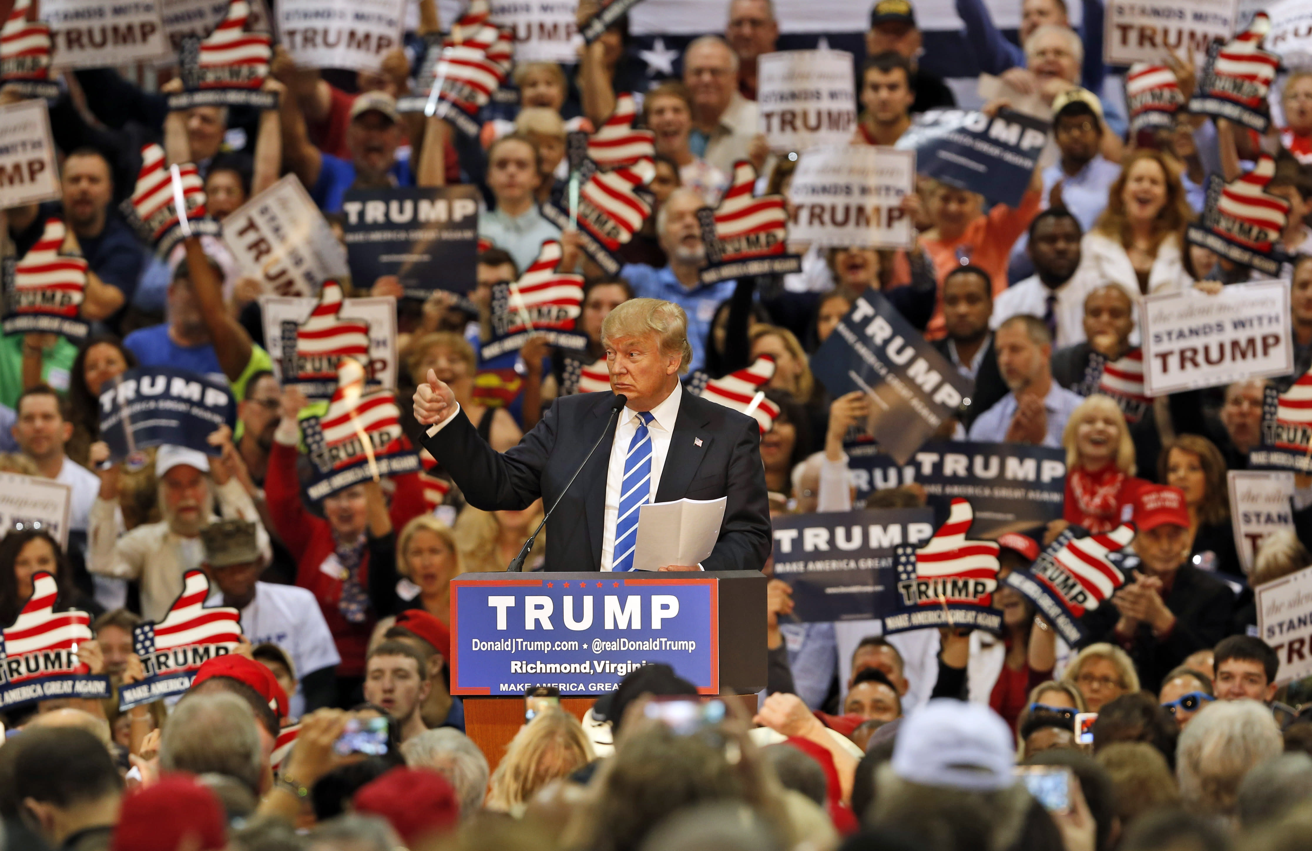 Image result for donald trump virginia 14 october crowd