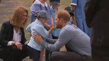 Cute Alert: Little boy strokes Prince Harry's beard