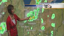 Heat, humidity build before storm chances