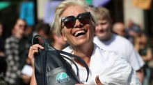 Emma Thompson, weeping teenagers join peaceful climate protest in London