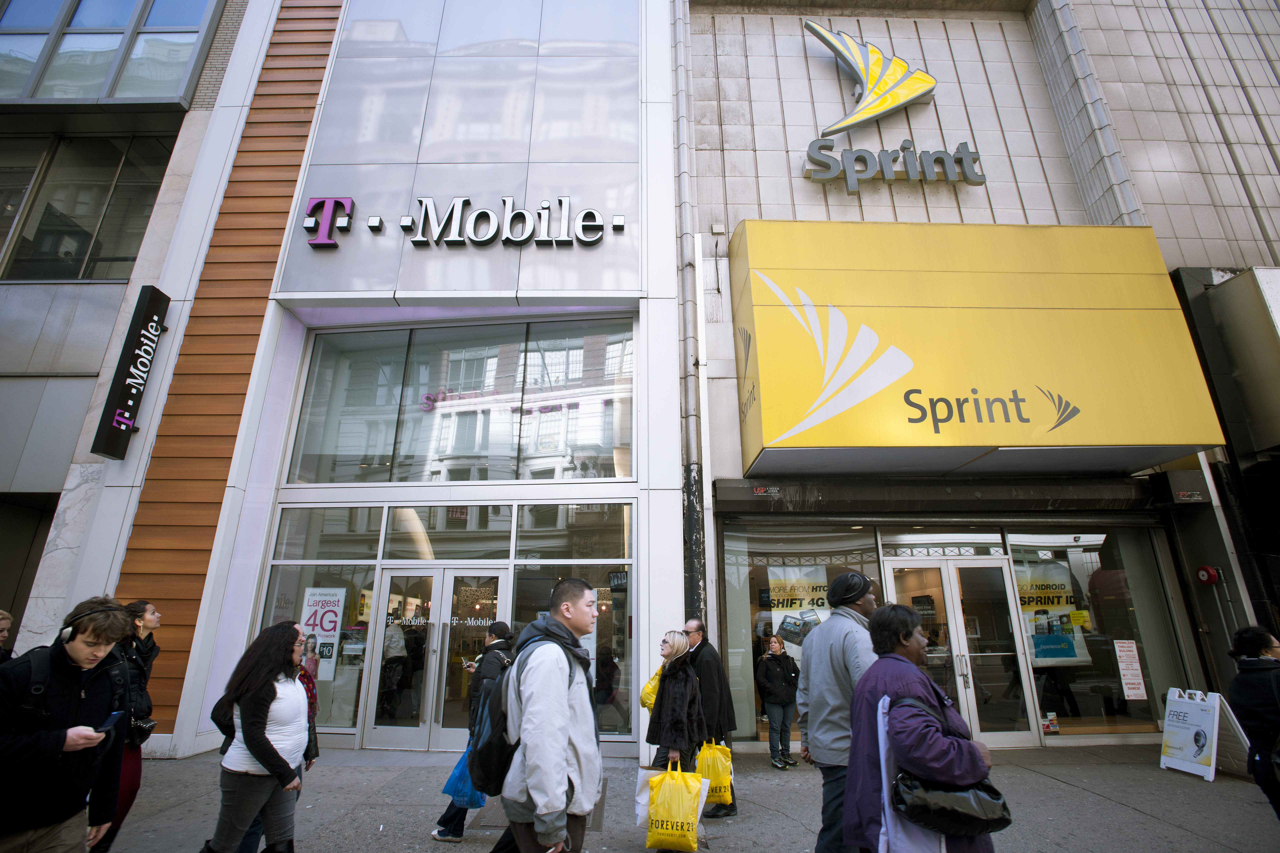 Today's charts: T-Mobile, Sprint deal close; Apple iPhone 8 goes on sale; Walmart tests in-home delivery; Finish Line rebounds