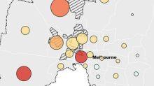 Victoria and Melbourne Covid trend map: where coronavirus cases are rising or falling