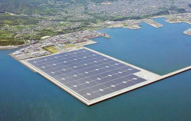 India plans to build the world's largest floating solar farm