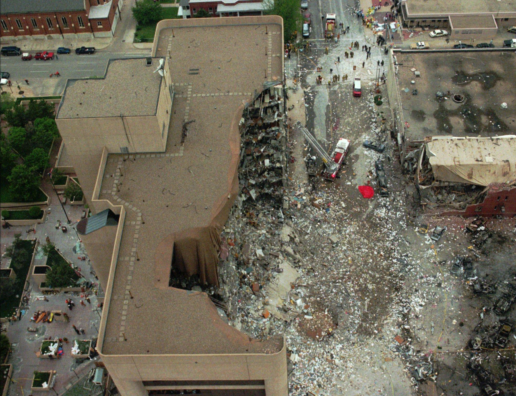 the oklahoma city bombing The oklahoma city medical examiner has partial dna from an unmatched left leg collected from the ruins of the alfred p murrah federal building bombing, reviving the possibility of a 169th unidentified victim from the 1995 terror attack as well as defense lawyers' long-held belief.