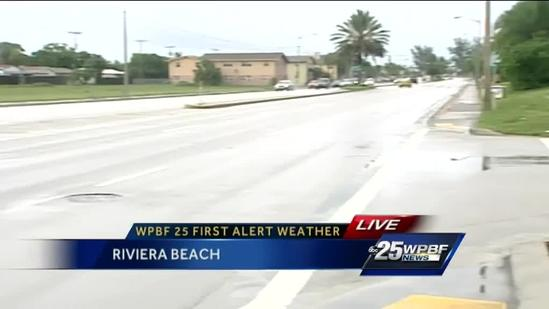 Heavy rain brings flooding to Riviera Beach, West Palm Beach