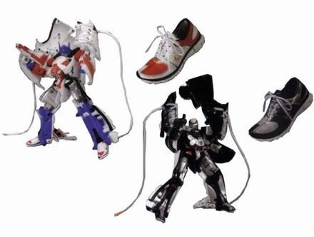 Transformers bust out of Nike Free shoes