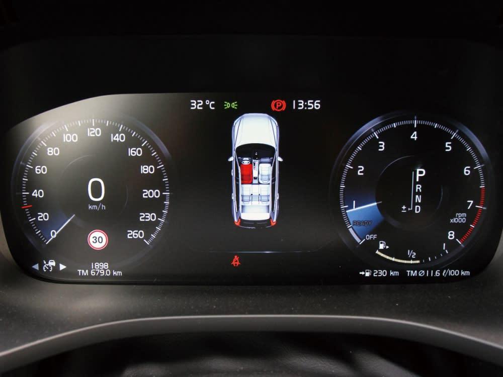 R-Design標配的儀表為12.3吋全數位整合式儀表板組。