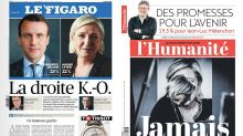 An equation with two unknowns: How newspapers reacted to Macron and Le Pen wins in first round of French election