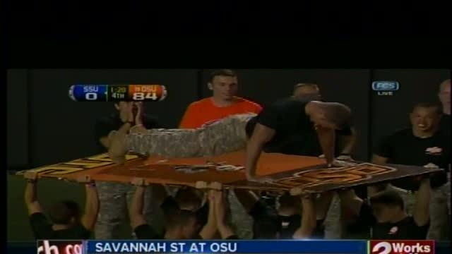 Oklahoma State opens with 84-0 defeat of Savannah State