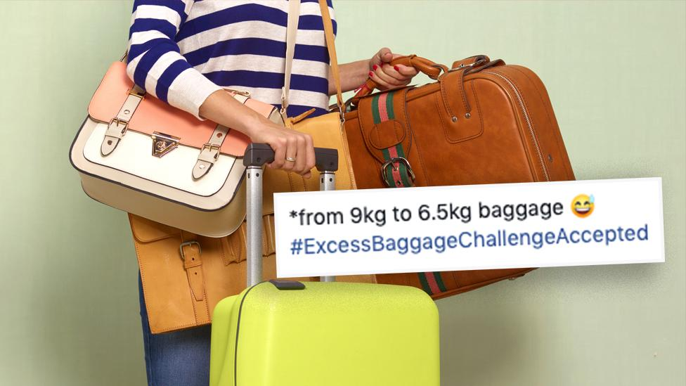 Woman's extreme way to avoid excess luggage fee