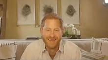Prince Harry talks about lockdown baking as he surprises ill children on video call
