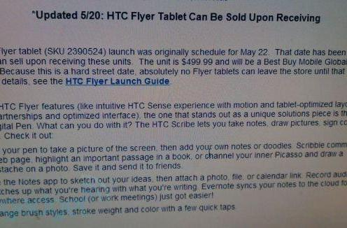 Flyer Friday: Best Buy starts selling HTC's seven-inch slate today