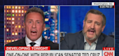 "Chris Cuomo and Ted Cruz on ""Cuomo Prime Time."" (CNN)"