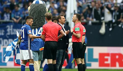Bundesliga: Kurios: Schalke-Maskottchen zeigt Schiedsrichter Rot