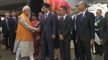 G20 Summit: PM Narendra Modi arrives at Kansai International Airport, Japan