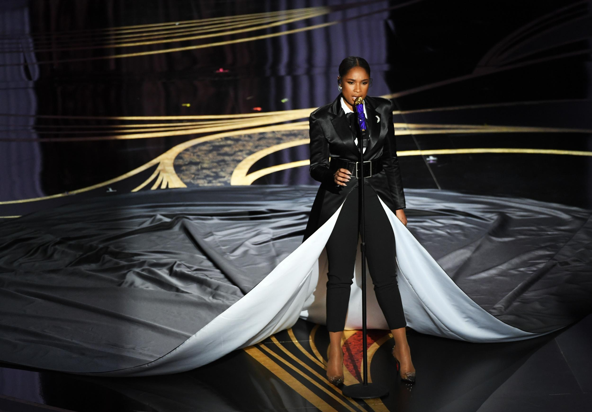 HOLLYWOOD, CALIFORNIA - FEBRUARY 24: Jennifer Hudson performs onstage during the 91st Annual Academy Awards at Dolby Theatre on February 24, 2019 in Hollywood, California. (Photo by Kevin Winter/Getty Images)
